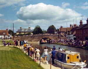 Re-opening of the canal to Hungerford wharf, 20 July 1974